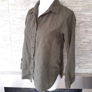 Uniqlo green button down shirt